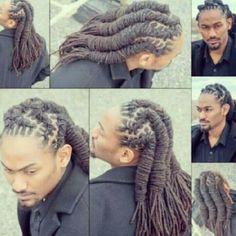 Basket weave dreads