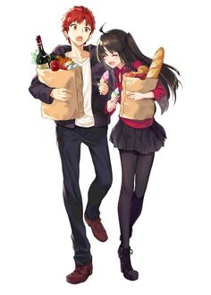 Shirou and Rin getting some grocery shopping done : fatestaynight Fate Stay Night Rin, Fate Stay Night Series, Fate Zero, Kuzu No Honkai, Fate Archer, Fate/stay Night, Type Moon Anime, Tohsaka Rin, Shirou Emiya
