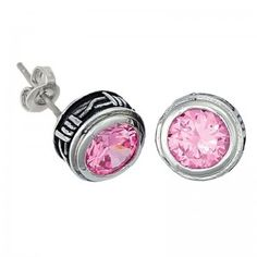 Montana Silversmiths Silver and Pink Stone Earrings