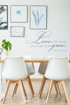 Love LETTERING VINYL WALL DECAL WORDS Home aphorism pintrest