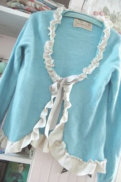 Tiffany Box Blue Cashmere Altered Sweater by OfLinenandLace, $73.50