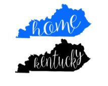 Kentucky state home outline shape,  SVG,  DXF  Cut File for Silhouette and Cricut machines, instant download, digital files, scal files