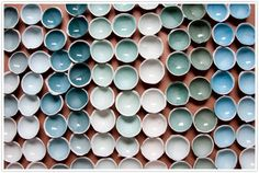 kirstie van noor ceramics pottery porcelain dinnerware bowls plates dishes art artist photo's colors clay