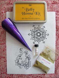 Sale Belly Henna Kit 20 off by BlueLotusHennaShop on Etsy, $12.00