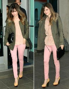 ways to wear pink pants Dress Me Up, Pink Dress, Worker Bee, Work Chic, Pink Pants, The Struts, All About Fashion, Pale Pink, Fashion Forward
