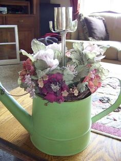 Trash to Treasure Decorating: Follow Friday & Watering Can Feature