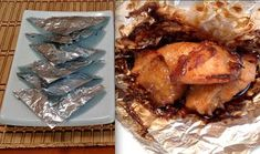 Chinese Foil Wrapped Chicken Recipe-How To Make Foil Wrapped Chicken Parcels-Asian Food Chicken In Foil, Chicken Wraps, Chicken Fajitas, Leftover Turkey Recipes, Leftovers Recipes, Homemade Egg Noodles, Low Calorie Dinners, Restaurant Dishes, Kitchens