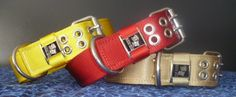Custom Dog Collars For Heavy Duty dogs Custom Dog Collars, Leather Dog Collars, Bright Yellow, Choices, Flat, Cool Stuff, American, Dogs, Red