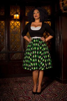Laura Byrnes California Alfreda Long Sleeved Dress in Green House Harlequin - Dresses - Clothing XS - 4X | Pinup Girl Clothing