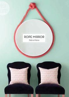 10 OCTOBER DIYS – Rope Mirror