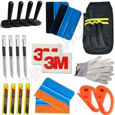 Standard Pro Tool kit Combo Car Vinyl Wrap Bag Squeegee Razor Glove 4 Magnet art knife blades 3M wool suede squeegee K27