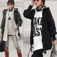 US$ 8.50 Korea Women's Ladies Leisure Long Sleeve Hooded Coat Sweater Top New