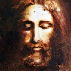 Face of Jesus (according to the shroud of Turin).