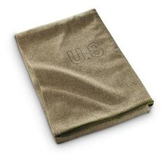 U.S. Military Surplus 5' x 7' Wool Blanket, Olive Drab