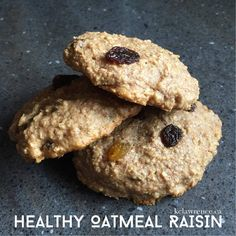KC Lawrence: Healthy Oatmeal Raisin Cookies