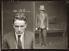 Mugshots from the 1920s: Sidney Kelly, 1924. Arrested for illegal gambling.