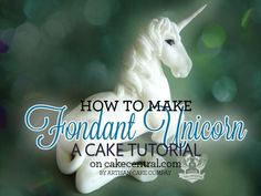 Learn how to make your own fondant unicorn cake topper for your next fairy tale cake!