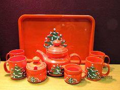 8 PC Tea Set Waechtersbach Christmas Tree Teapot Tray Sugar Creamer 4 Mugs | eBay