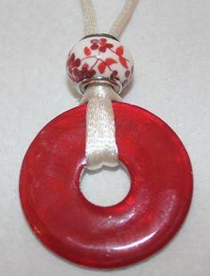 Poppy Red Washer Necklace. $10.00, via Etsy.