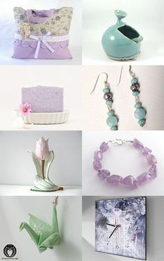 Cool Color for a Hot Summer! by Julene Baker-Smith on Etsy--Pinned with TreasuryPin.com