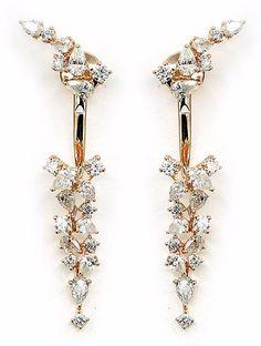 Diamond Drop Earrings, Jewelry, Diamond Earrings, Jewlery, Jewerly, Schmuck, Jewels, Jewelery, Fine Jewelry