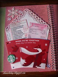 Layout: My first SMASHbook page completed - Meeting in Starbucks