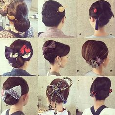 Up Styles, Hair Styles, Japanese Hairstyle, Japanese Outfits, Yukata, Japanese Kimono, Asian Style, Hair Beauty, Wedding