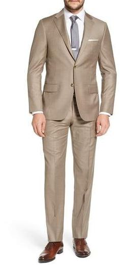 9d92ddb509e Hickey Freeman Beacon Classic Fit Solid Wool Suit Mens Fashion Suits