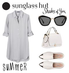 """""""Shades of You: Sunglass Hut Contest Entry"""" by medina-skrebo ❤ liked on Polyvore featuring Miu Miu, United by Blue and shadesofyou"""