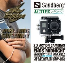 #WIN #GIVEAWAY - @Sandberg ACTIVE WorldWide Giveaway with @3rdstrikegames 2x ActionCam 4k Waterproof & WiFi https://wn.nr/KEf5y8
