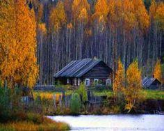 Kenozersky national park, Arkhangels region, Russia. Beautiful Autumn.