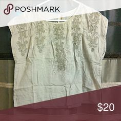Selling this Free People Embroidered Tan Top on Poshmark! My username is: breanaromo. #shopmycloset #poshmark #fashion #shopping #style #forsale #Free People #Tops