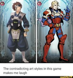 """I actually love the variety of art styles. Certain characters feel more connected to their personalities using specific art styles. Example: Arthur's art style is heavily inspired by a comic book style art. That's because his attitude and personality is similar to that of early comic book characters. """"Heroism""""."""