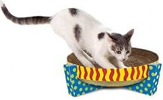 Cat Scratcher Bed Rest Easy Life Snuggle Kitten Furniture Relax Play Board Mat