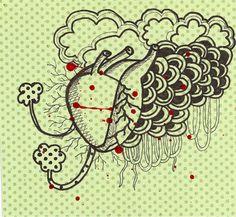 Lena Muniz- coração da ophelia…nanquim e esmalte risqué- 2010. http://www.facebook.com/lenamunizarte