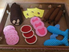Schnittmuster Nähen: Kaufmannsladen, für Kinder / diy sewing instruction: products for children's toy and food shop by Hemakenipa via DaWanda.com