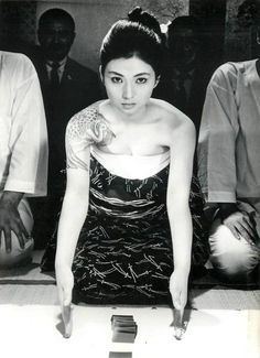 fuckyeahmeikokaji:  Lobby card for A Gangster's Morals (盛り場仁義), 1970, directed by Yasuharu Hasebe (長谷部安春) and starring Meiko Kaji (梶芽衣子).