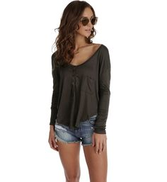 Charcoal Relaxed Day Top
