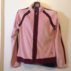 Lululemon velour jacket XL Barely used pink @ maroon velour zip up jacket. XL but fits me well & I am a M so think it can fit M/L runs small I think. lululemon athletica Jackets & Coats Utility Jackets