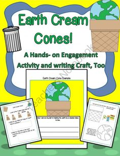Earth Cream Cones! A Hands-on Engagement Activity And Writing Craft! from EngagingLessons on TeachersNotebook.com -  (11 pages)  - Students are engaged with fun intro lesson by observing 4 lunch sack bags that are labled with a form of common trash ( paper..etc)   As each bag is poured into a large bowl, the students record and observe what is actually in each bag and learn how each