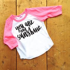 You Are My Sunshine Infant/Toddler Tee by crewandcoshop on Etsy - hipster kid clothes, hip tees, graphic tees