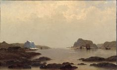 """View in Sandwich Bay (Coast of Labrador),"" William Bradford, ca. 1870s, oil on canvas, 18 x 30"", Philadelphia Museum of Art."