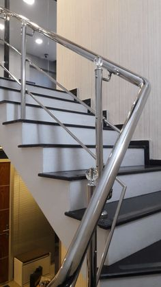 Stair Railing, Railings, Stairs, Stainless Steel Railing, Home Decor, Banisters, Staircases, Stair Banister, Stairway