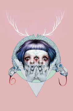What Keeps You Sane? by heartofrockandroll on DeviantArt Pastel Punk, Wonder Art, Creepy Cute, Pop Surrealism, Dope Art, Figurative Art, Art Images, Art Inspo, Contemporary Art