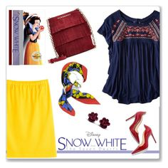 """""""Disney's Snow White and the Seven Dwarfs"""" by sherri40 ❤ liked on Polyvore featuring American Eagle Outfitters, Jil Sander, Burberry, Moschino, women's clothing, women's fashion, women, female, woman and misses"""