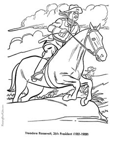free printable president theodore roosevelt coloring pages