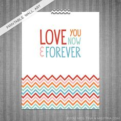 Now & Forever DIY Printable Digital Wall Art 8x10. $3.00, via Etsy. Custom color option available! Sizing is FREE!
