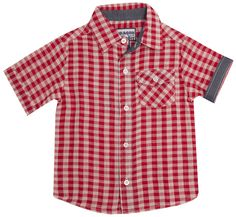 "The Dragon and The Rabbit ""Red + White Gingham"" Button Down Shirt"
