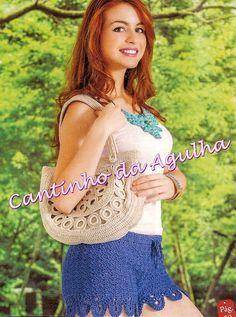 CROCHE COM RECEITAS: Crochê Shorts Irresistível Crochet Shorts, Crochet Top, Crop Tops, Clothes, Beauty, Women, Summer, Fashion, Beachwear Fashion