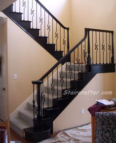 Style #140 Decorative Iron Staircase with Hook Scroll